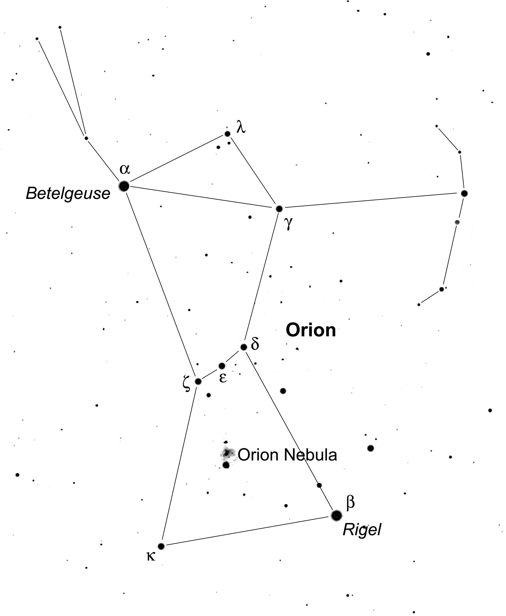Nevada's night sky: Orion the Hunter