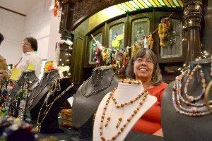 Dozens of people crammed into the Hawthorne Convention Center on Nov. 17, winding through tables laden with crafts and around displays of decorations