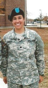 On Dec. 5 Spc. Tana Gurule graduated from U.S. Army Basic Training in Fort Jackson, S.C. She was awarded Soldier Leader of the Cycle, which is given to the soldier