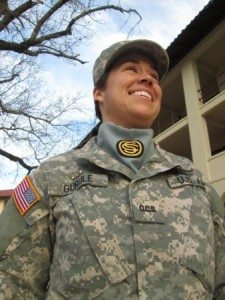 """I am part of the Army,"" Nevada National Guard Officer Candidate and former Mineral County resident Tana Gurule said."