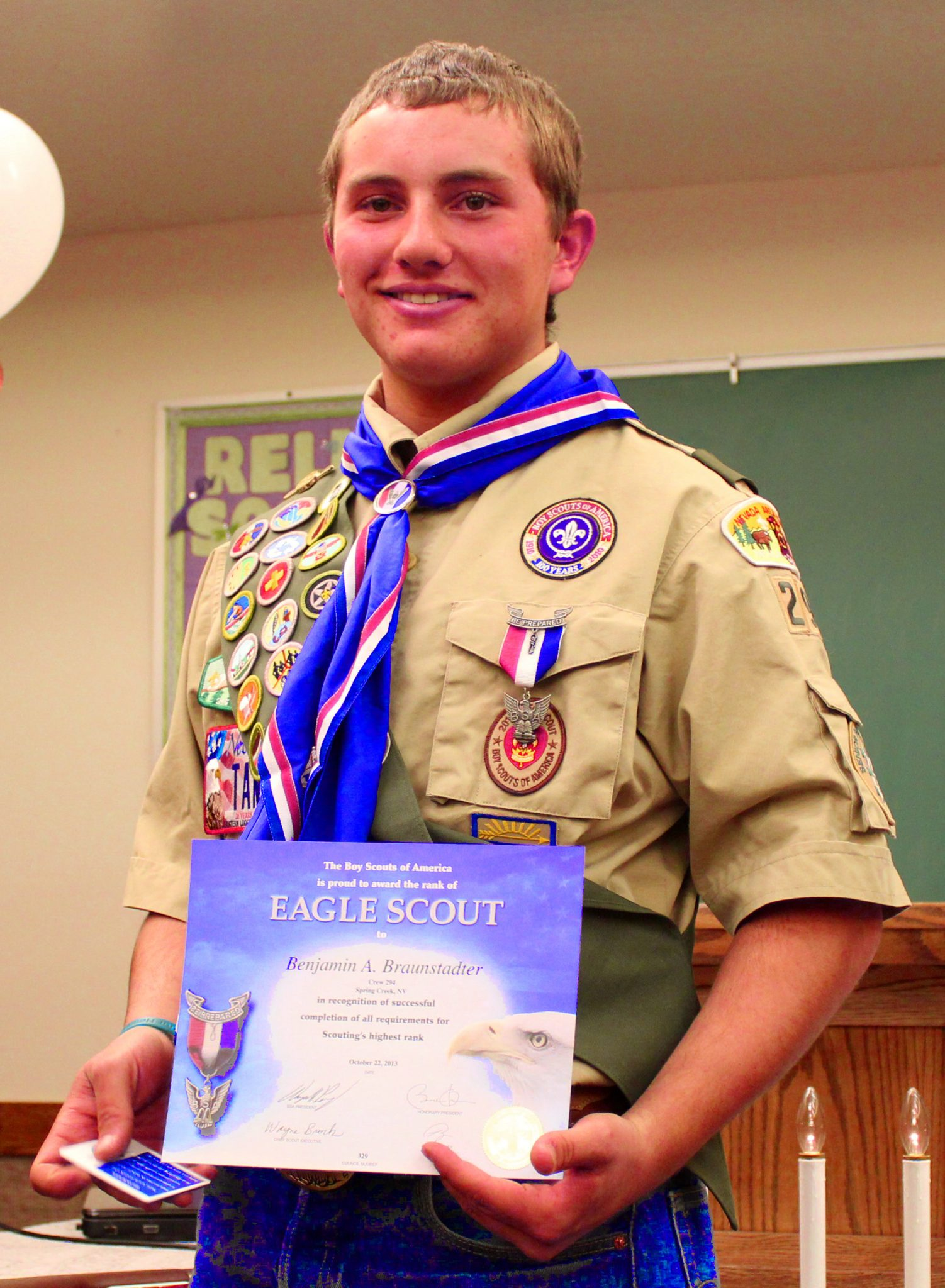 Grandson of local earns Boy Scout eagle rank