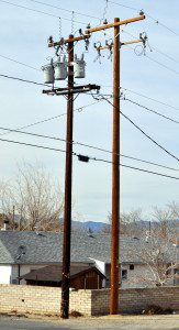 NV Energy is replacing aging wooden poles, cross arms and insulators on a power line that serves about 1,300 electric customers located on the east side of