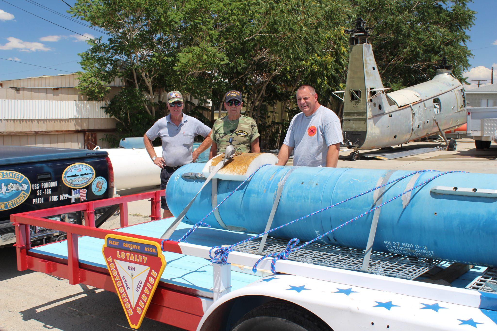 Inert torpedo donated to Fleet Reserve Association