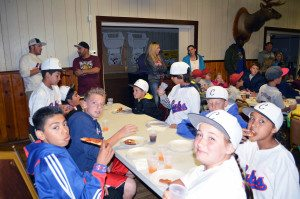 BPOE Elks Lodge no. 1704 hosted a pizza bash for the Hawthorne Little League at their location on 595 W. 5th St. More than 100 ecstatic players