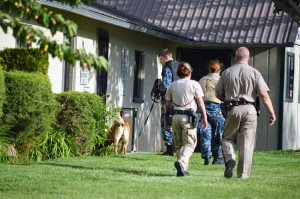 Sirens wailed, police evacuated Mineral County buildings in response to a May 28 bomb threat. The U.S. Navy also sent a bomb sniffing dog from Fallon Naval Air Station for assistance.