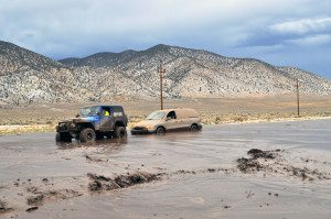 A flash flood warning was issued for Mineral County by the National Weather Service on Tuesday, but the warning was too little, too late.