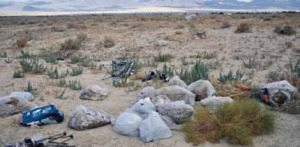 Ever since the Hawthorne Landfill started charging a fee to use its dump, there has been an uptick of garbage piling up around some spots in the desert.
