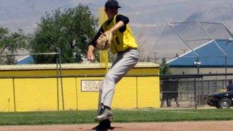 Daniel Owens helped pitch his team into the playoffs with his no-hitter against Wells on Saturday. Courtesy photo.