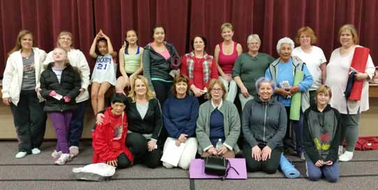 Yoga group open to the public
