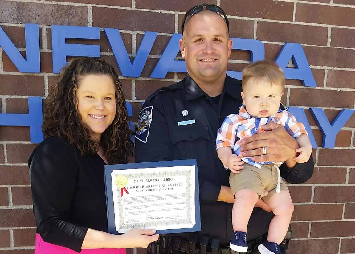Local trooper receives award for lifesaving actions