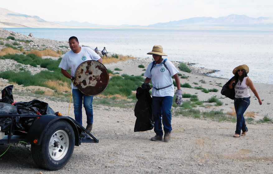 Groups team up to clean Walker Lake shorelines