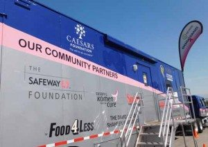 The Mammovan visited Hawthorne this week in  the Safeway parking lot offering breast cancer screenings for local women.