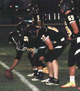 Courtesy photo The Mineral County offensive line was instrumental in their 74-7 win over Sierra Lutheran last Friday at home.