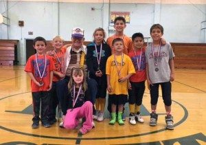Courtesy photo The annual Elks Soccer Shoot was held recently with seven young local participants, that each placed and received a medal. Longtime Elk Bud Lemmond, who also makes sure the shoot is a success, has organized this event for many years.