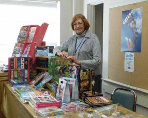 Sheri Samson Mineral County High librarian Lois Dorschel was pleased with the turnout for the school's book fair. The library received 50 percent of the funds made for the week.