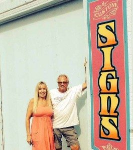Heidi Bunch Wade Barton, right, and his wife, Kay, are the owners of Sign City, which recently moved into a new location at 320 F. Street.