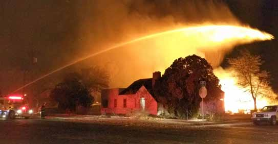 Fire guts shed near 6th Street School, causes damage to nearby home