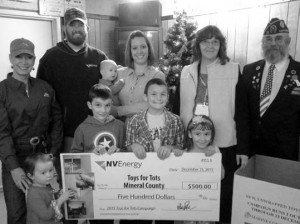Heidi Bunch NV Energy donated $500 to the local Toys for Tots program.