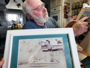 "Sheri Samson Hawthorne's Buster Heckman shares pictures of when he built his second boat, but also a large picture of his first, Miss Walker Lake. ""You remember your first,"" he said."