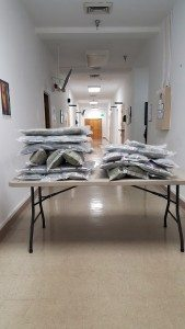 Courtesy photo Two adults were arrested after 30.8 pounds of marijuana was found in their vehicle during a traffic stop by Walker River police Sunday evening.