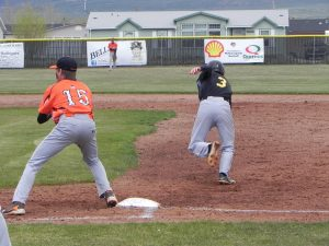 Tanner Owens stealing his 57th base that made him the stolen base leader in the nation.