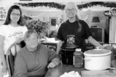 Courtesy photo Mineral Temple #18 Pythian Sisters had another busy day when they assisted Amity Lodge #8, Knights of Pythian, with their second Beer and Brat fundraiser in Reno. The sisters prepared the food for this special day. Sisters helping were Kristal, Nancy, Kathi and (not pictured) Kendra.