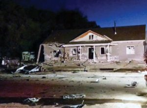 Photo courtesy of Lincoln County Record A house in the small town of Panaca in Lincoln County was destroyed after a man set off a bomb in his rental car outside of the residence last Wednesday evening. Glenn Franklin Jones, who died in the blast, bought items from the Hawthorne Ordnance Museum multiple times over the past few years.