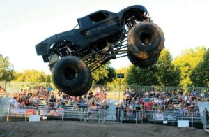 "Courtesy photo -  Airborne Ranger and his monster truck ""Death From Above"" will be on hand for this weekends boot drive in Hawthorne."