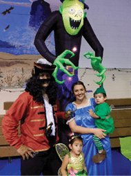 Sheri Samson - The Crowl family took part in the fun at Spook Night in Schurz on Friday.