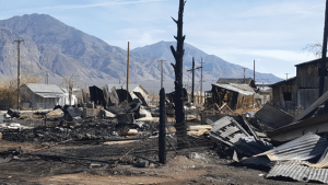 Heidi Bunch Charred remains of a deadly fire in Mina gutted nearly half a block of the small Mineral County town last Wednesday.