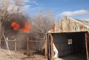Fire Crews Battle Blazes in Mina, Hawthorne