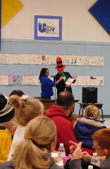 Literacy Night Draws Big Crowd at Hawthorne Elementary