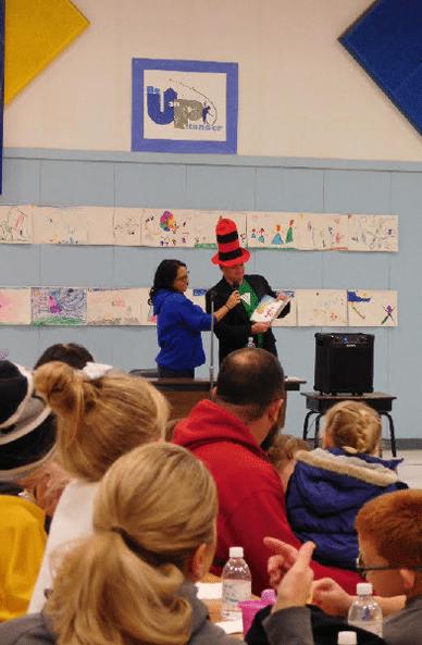 Literacy Night Draws Big Crowd at Hawthorne Elementary