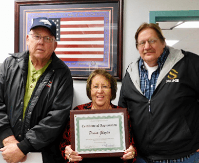 Glazier Honored at Final School Board Meeting