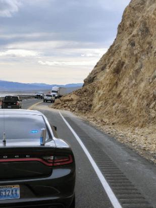Rock Slide Shuts Down US 95, Strands Motorists