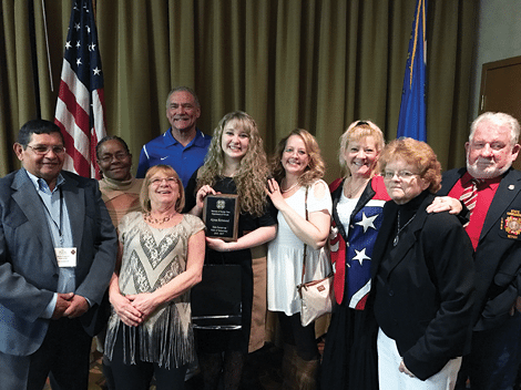 MCHS senior takes second in state VFW speech contest