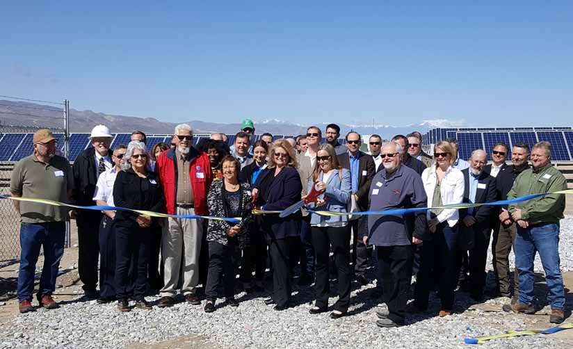 Ribbon cutting ceremony marks completion of solar energy center