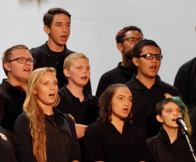 Local music students perform concert at junior high gym