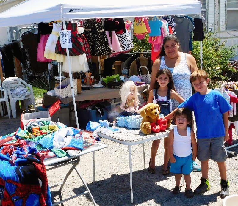 Plenty of bargains had at Community Yard Sale
