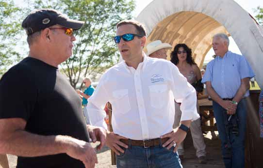 No Big Announcement at Adam Laxalt's Basque Fry, but Supporters Talk as if he's Running for Governor