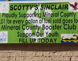 Local Gas Station Supporting Mineral County Booster Club