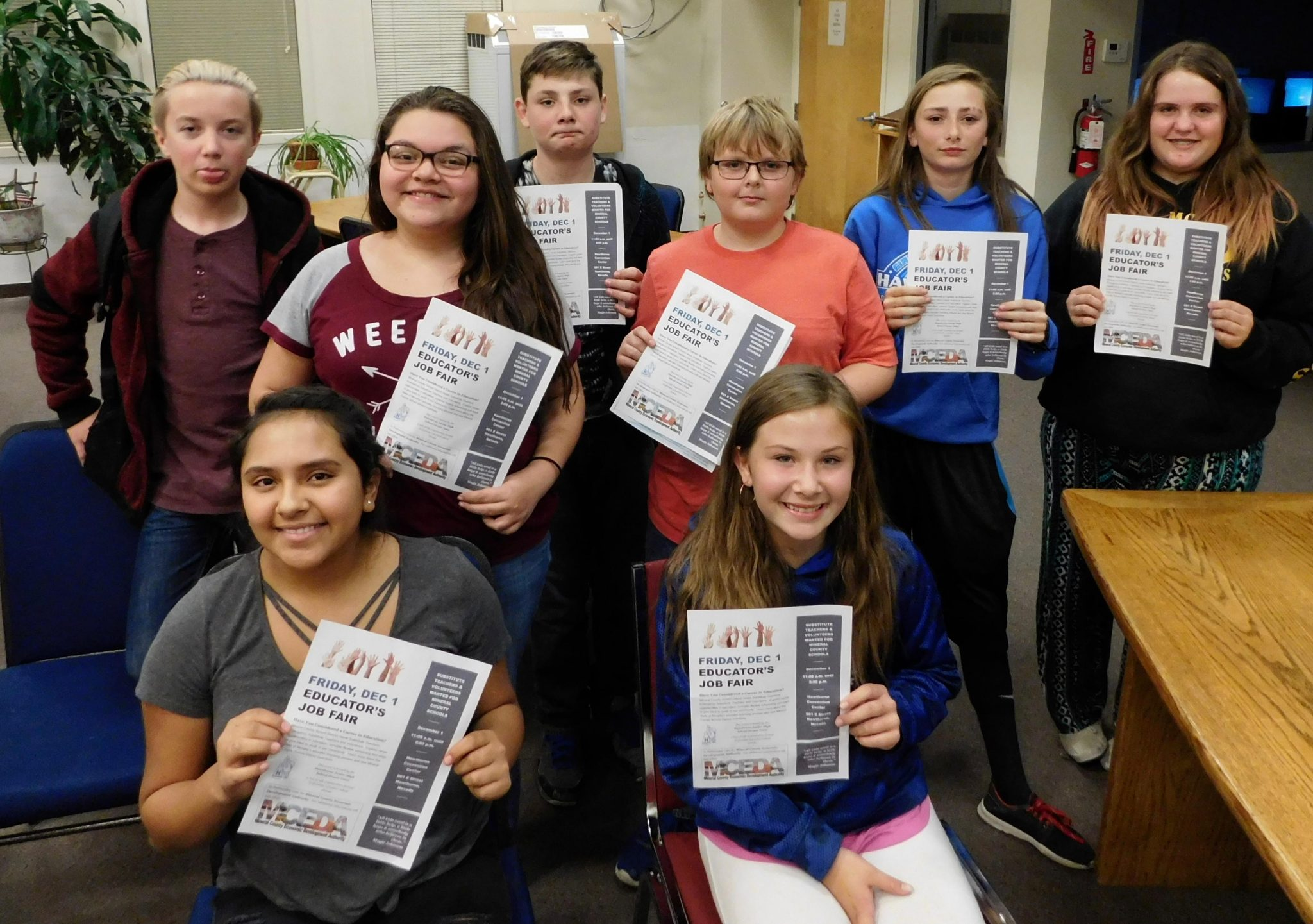 Local Students Helping Conduct Teacher Job Fair