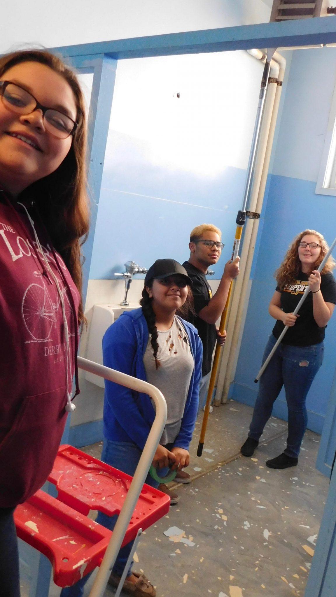 'Dream Team' Comes Forward to Clean Junior High Bathroom During Break