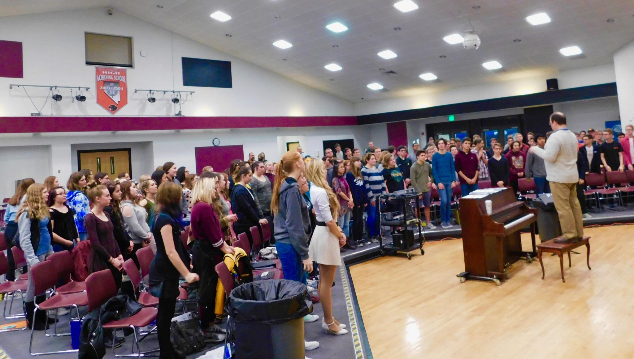 Northern Nevada Honor Choir Rehearses for Fallon Performance