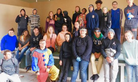 Students Clean up Historic Hawthorne School in Advance of AFD Open House