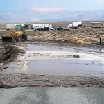 Spanish Springs Road in Mineral County was damaged after heavy rains swept through the area Sunday evening.