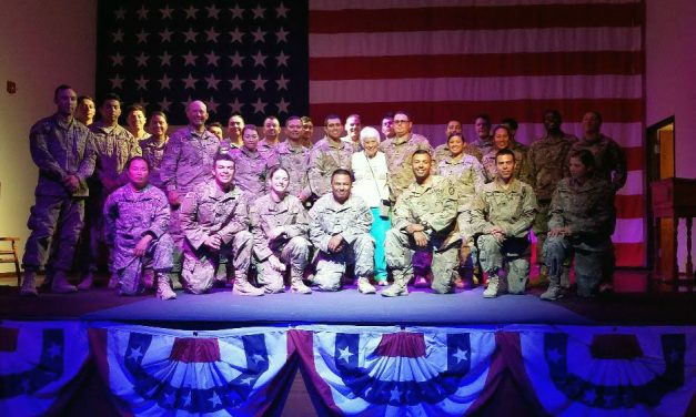 America's Patriotic Home Lives up to Its Name During USO Visit from Soldiers