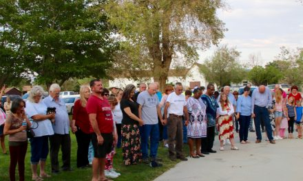 Community Unites for Prayer Beneath MCHS Flag Pole