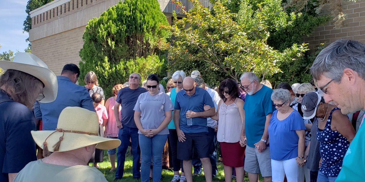 Community Prayer Held Outside Sheriff's Office