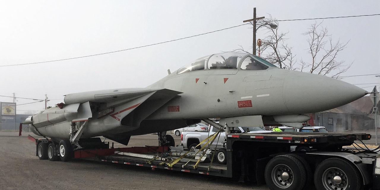 Hollywood Fighter Jet Makes Slow Trek Through Hawthorne Streets